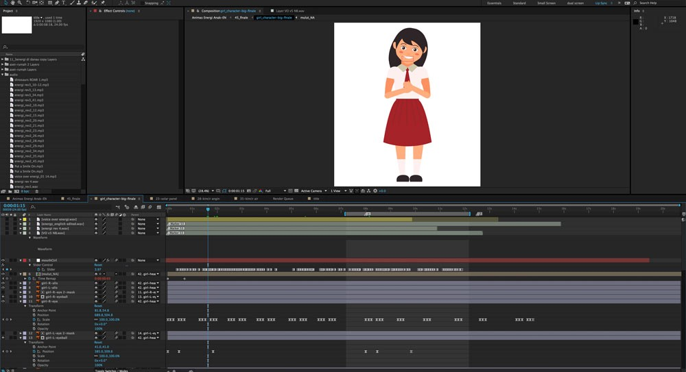 Proses animasi di Adobe After Effects