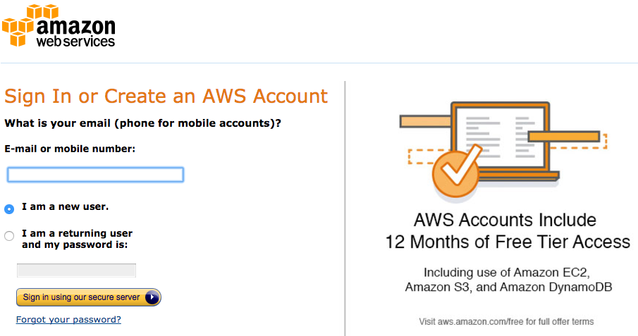 Alexa skills kit tutorial: create AWS account