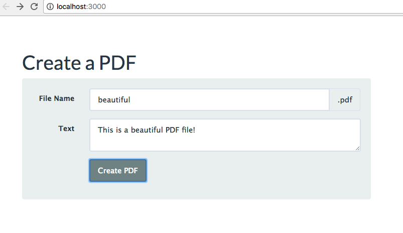 Generating a PDF with Express & Node.JS