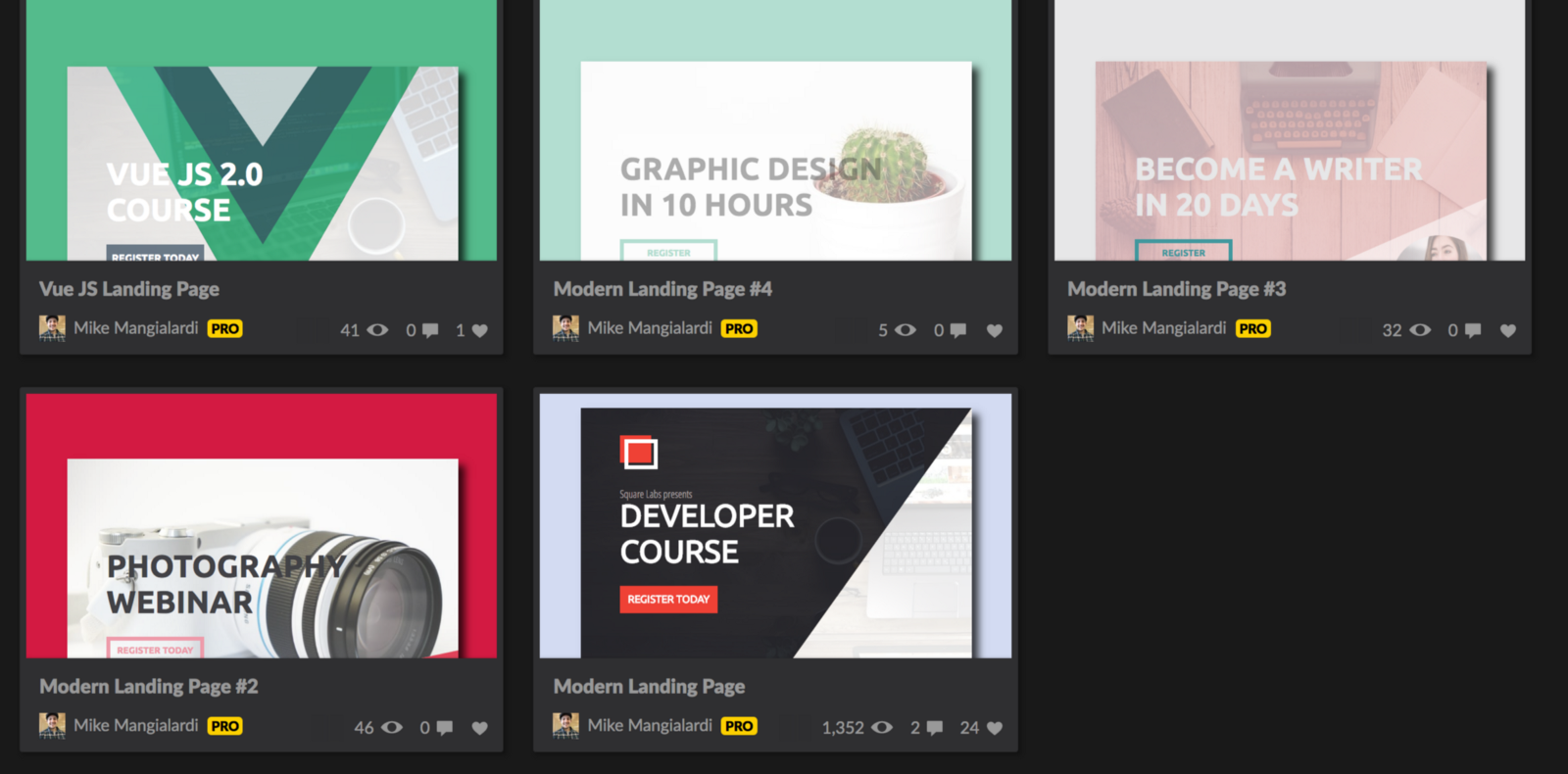 Gradients + Triangles for Modern Landing Pages – Michael Mangialardi ...