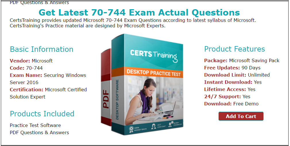Microsoft Securing Windows Server 70744 Exam Question And Answer