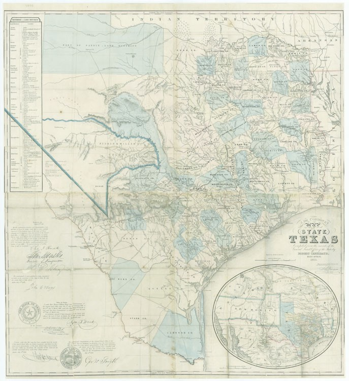 This Map Is The Third Edition Of Jacob De Cordova S 1849 Map Of Texas Which Was One Of The Most Important Post Annexation Maps Of The State