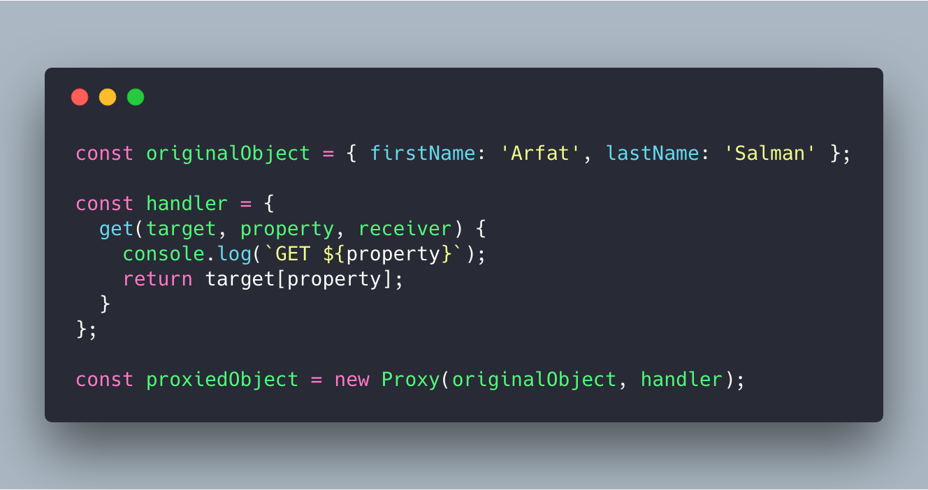 understanding javascript proxies by examining on change library