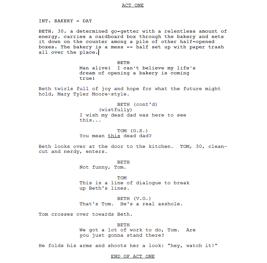 How to write a tv pilot pt 5 writing the script sitcom world like i said in previous sections your acts will be roughly ten pages each your third act will usually be the shortest but i wouldnt worry about sticking pronofoot35fo Gallery