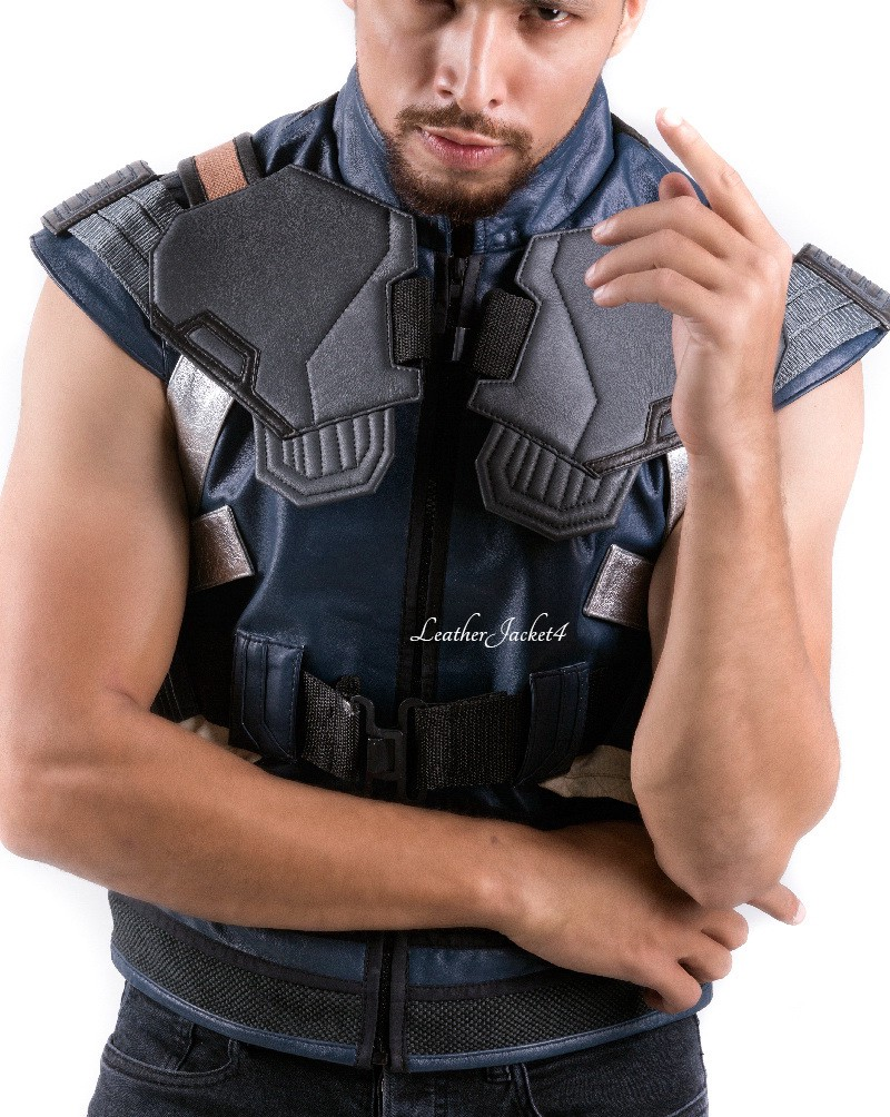 e6fbce6ab65192 If you want to look like Michael B Jordan in Black Panther then try out  this Erik Killmonger Vest Jacket in real leather and pair it with sturdy  denim.
