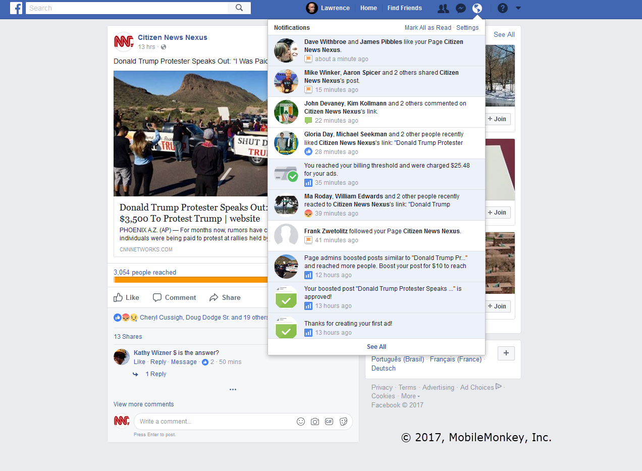Fake Facebook Post Template | Facebook Ads Fake News And The Shockingly Low Cost Of Influencing