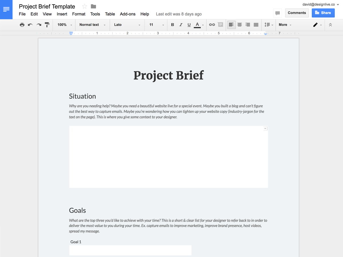 Fill Out A Project Brief; Organize Files; Get Screen Share Setup; Invite  Your Designer To Your Website