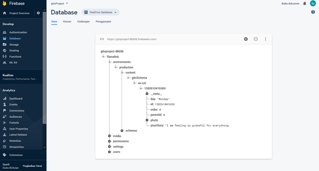 The Content That Have been Input Through Flamelink will be Automatically Appear in Firebase Console
