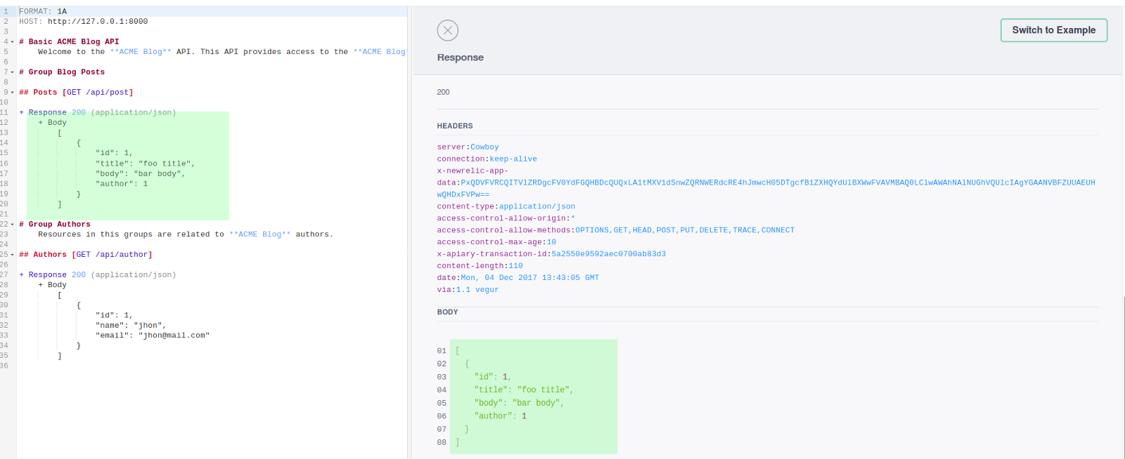 Writing and testing api specifications with api blueprint dredd and now you can design your api write the documentation and thanks to apiary the rest of the team could start to write the front end implementation using the malvernweather Image collections