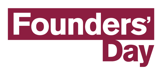 the logo for founders day