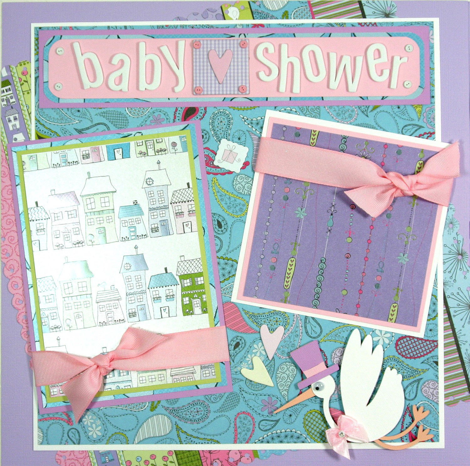 Exceptional Baby Shower Scrapbook Pages Part - 4: Baby Shower Scrapbook Page Layouts