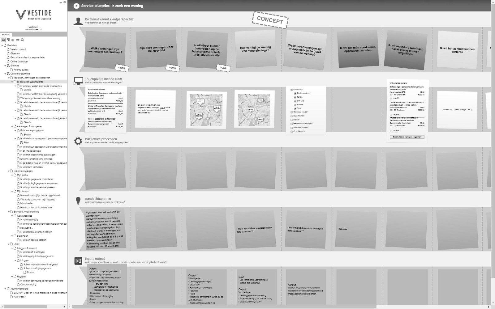 Service blueprinting cynthia risse medium a snapshot of a service blueprint about the journey of a house hunter for vestide read more here malvernweather Choice Image