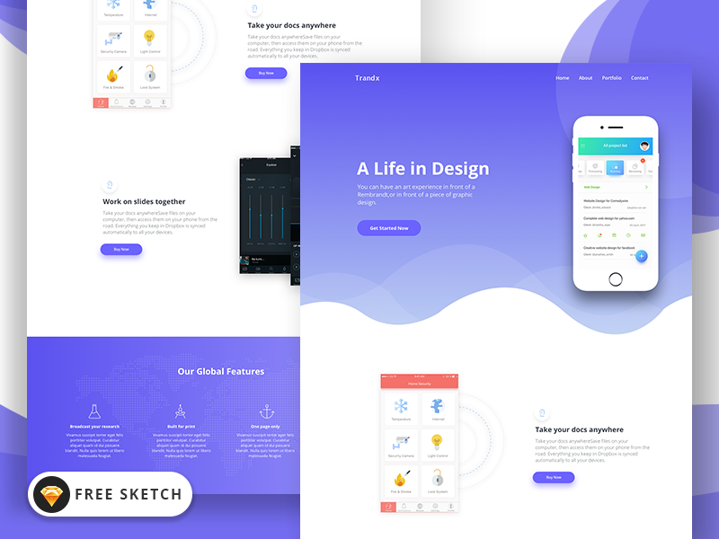 Top Free Landing Page Templates UI Collections Medium - Website landing page templates