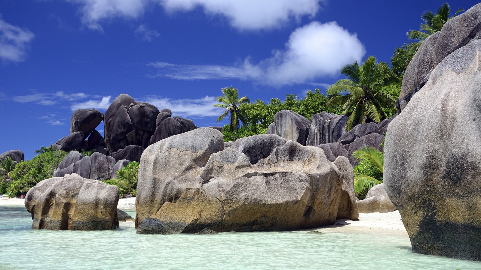 Seychelles seascape in the Indian Ocean
