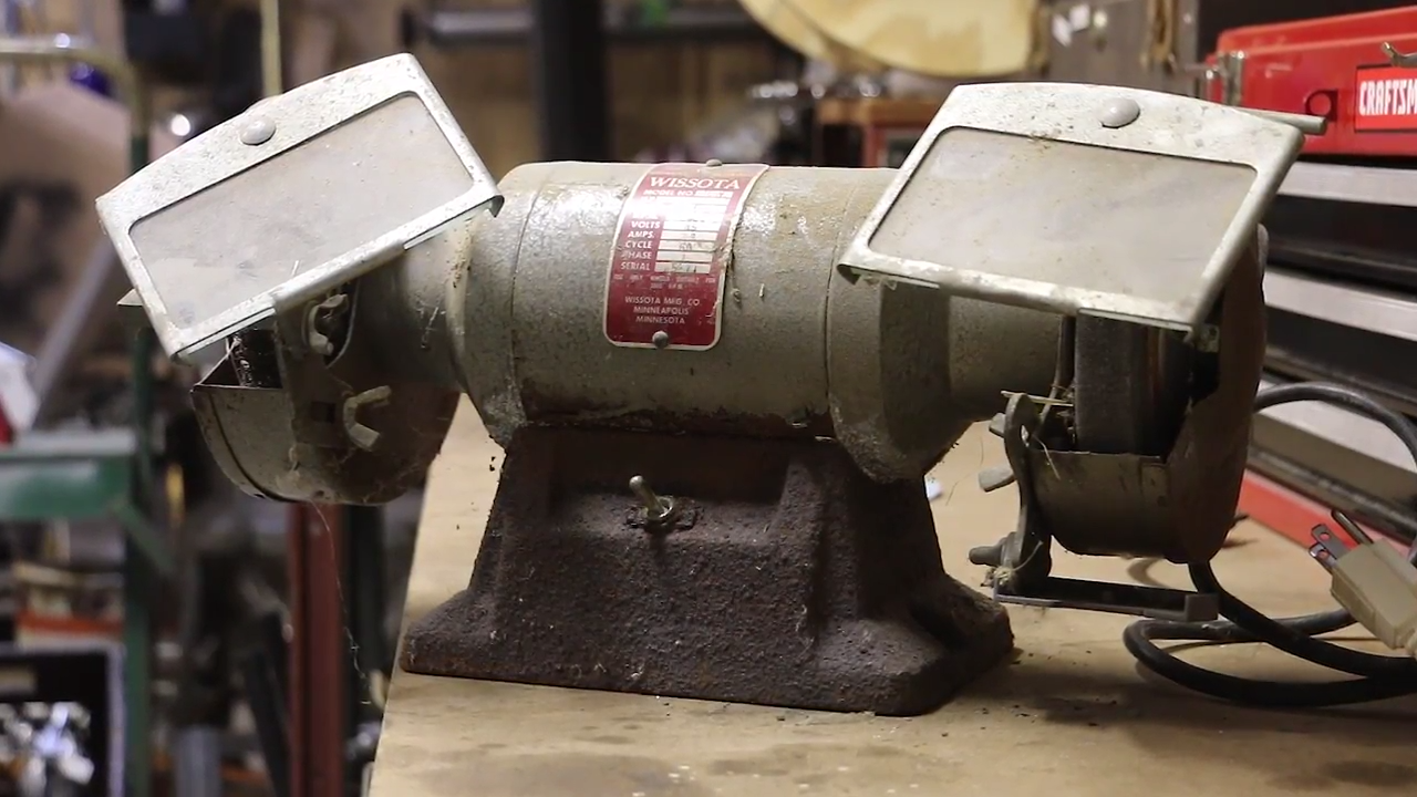 Can It Be Saved Restoring A 47 Year Old Bench Grinder