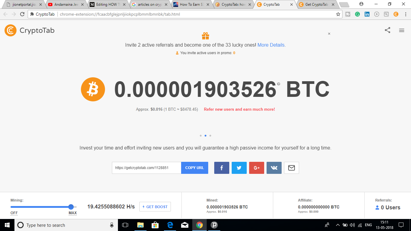 How to earn money 10000 per month using crypto tab to bitcoin you can also share your personel with your all social media platforms to invite friends to get users and to get more money ccuart Image collections
