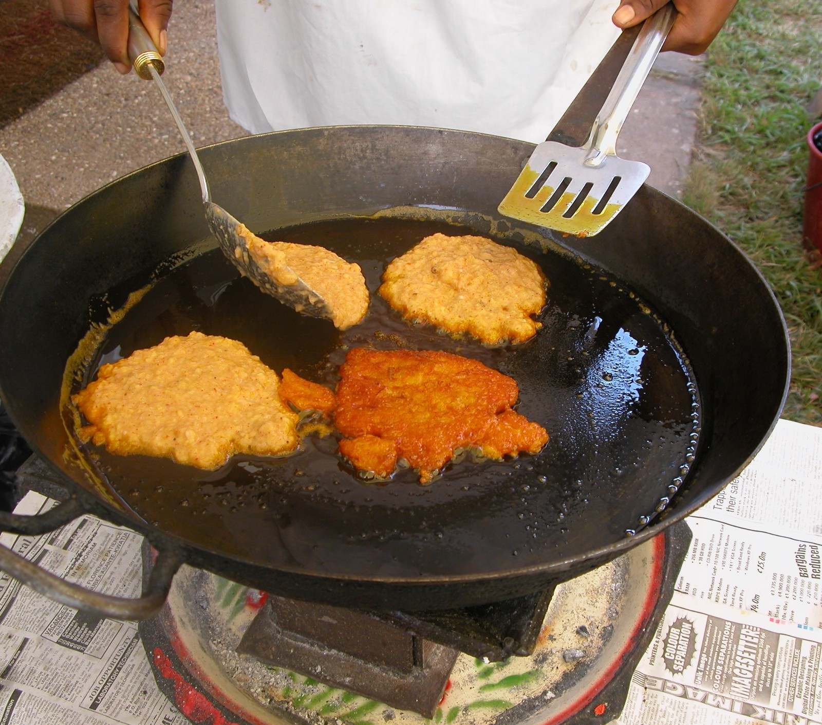How i fell in love with ghanaian food and how to make it yourself 10 set the pancakes on paper towels to drain off excess oil but brushing fresh palm oil on the pan for each batch of tatale avoid stacking them as you forumfinder Choice Image