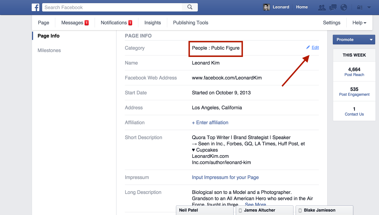 That blue check mark on facebook can now be yours here is how under awards put the publications you were in the titles of the articles followed with links biocorpaavc Image collections
