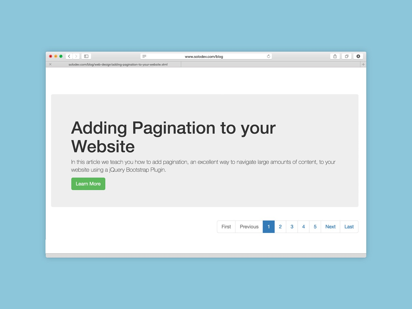 Adding Pagination to your Website