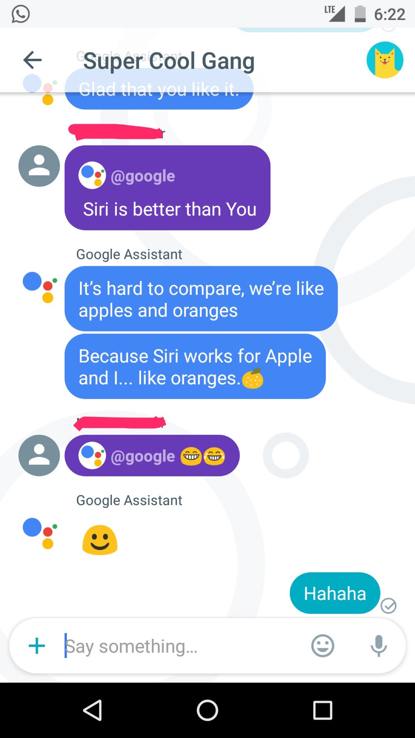 Image of: Fbi It Is Also Sometimes Funny For Example My Buddies Created Group And We Started Pulling In Google Assistant In Our Conversation It Was Funny And Bizarre Medium Google Allo Azhagarasu Medium