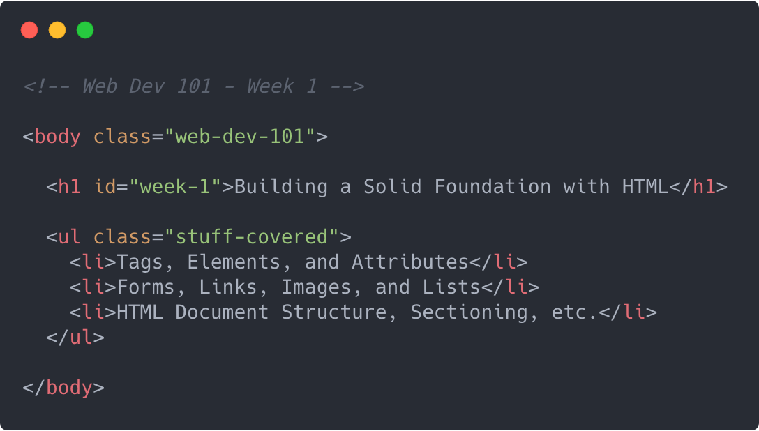 Week 1: Building a Solid Foundation with HTML