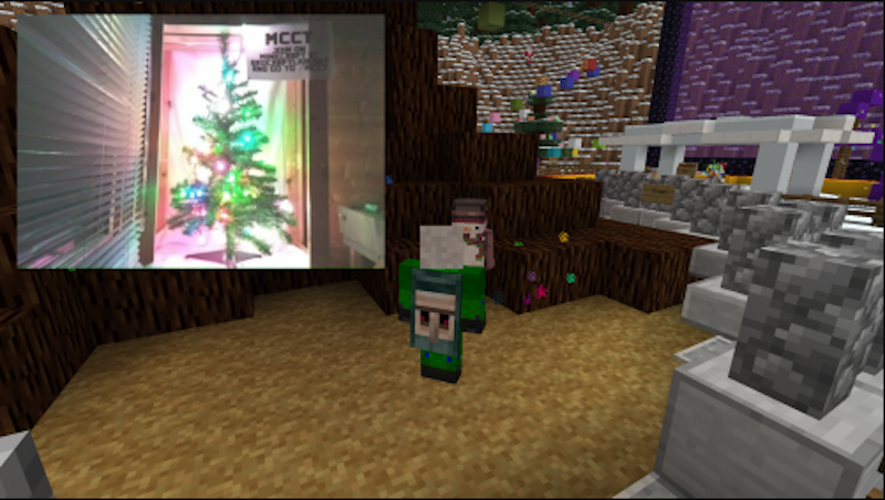 A Real Christmas Tree Controlled Through Minecraft Hackster Blog
