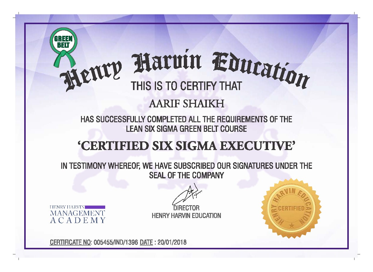 6 Sigma Green Belt Certification Online Henry Harvin Medium