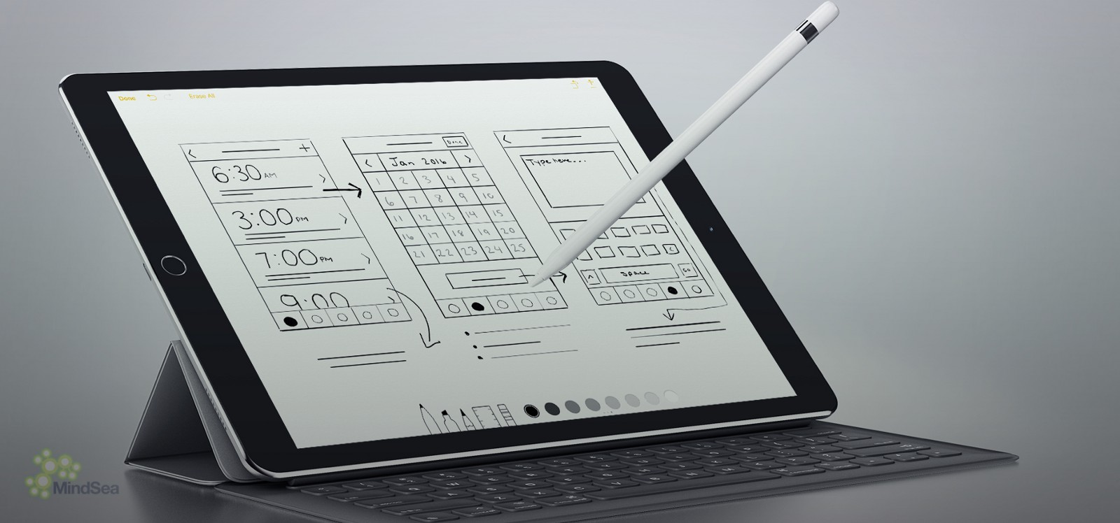 A ux designers review of ipad pro mindsea medium weve been using the default notes app for sketching the reason why is because our sketches still look like they were done by hand with pencil malvernweather Images