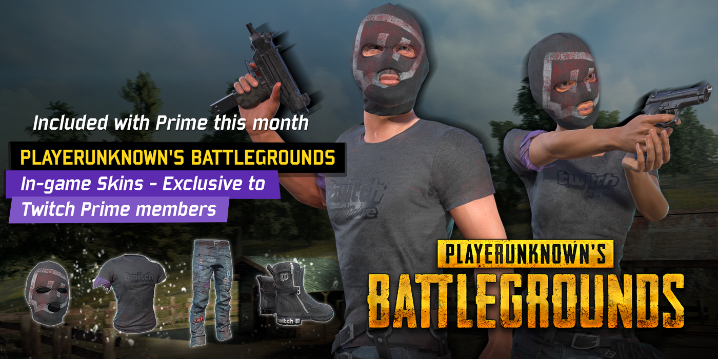 PLAYERUNKNOWN'S BATTLEGROUNDS Exclusive Skins Now Available for Twitch Prime Members!