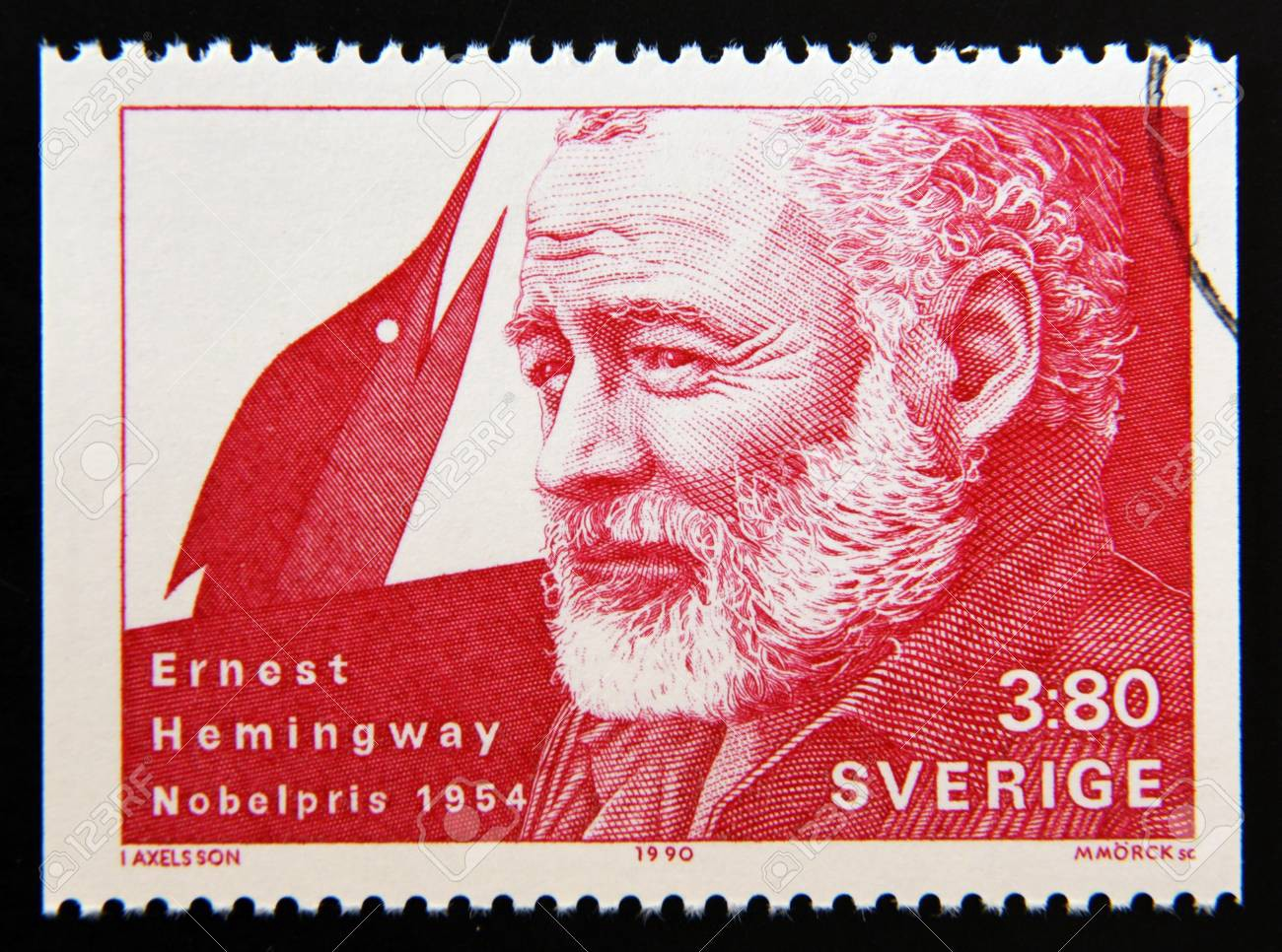 Ernest Hemingway Is Awarded The Nobel Prize For Literature October 1954 Damn Signature Male White Hd Red 123rfcom