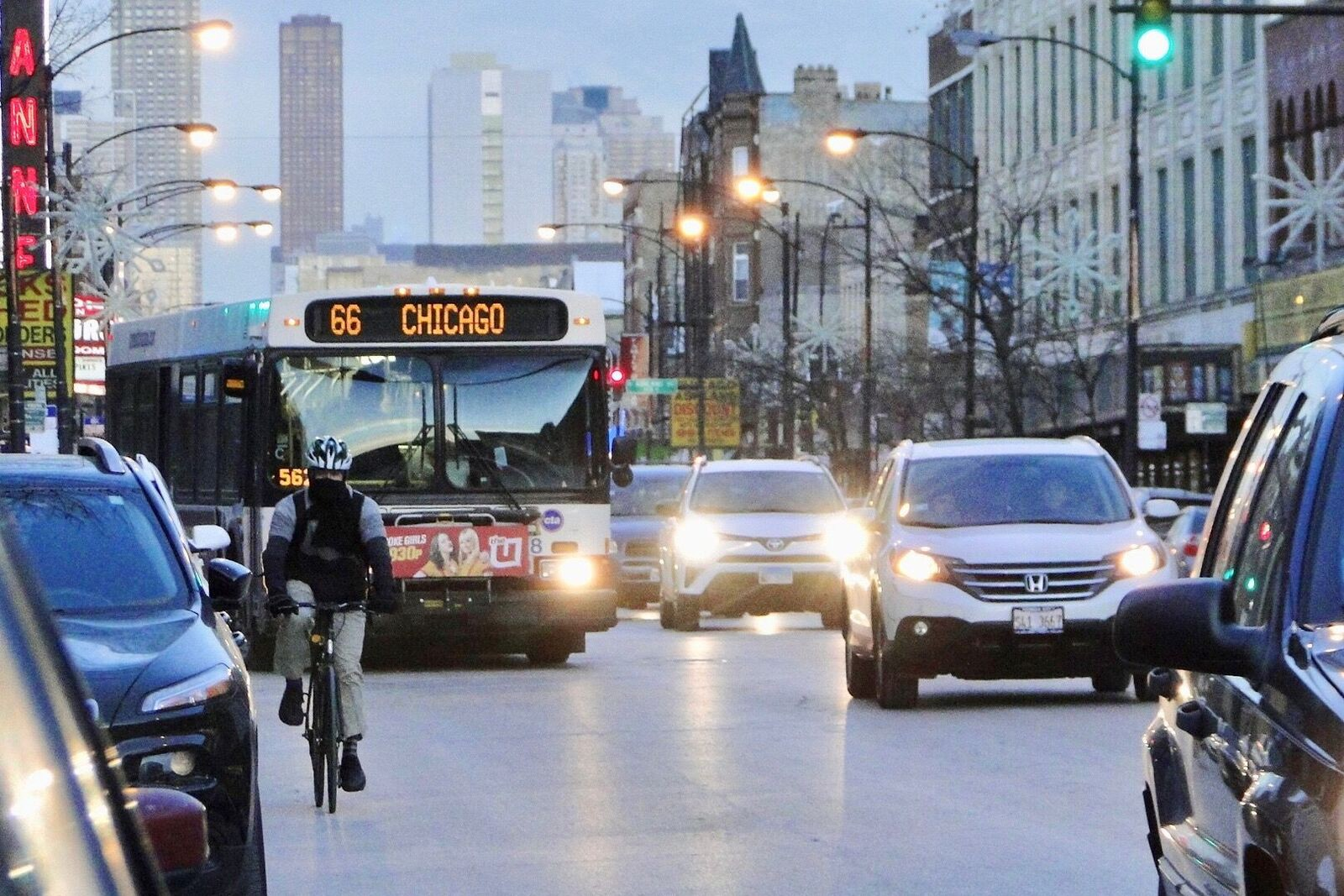 Swap Car Lanes for Bike Lanes On Chicago Avenue? CDOT is Thinking