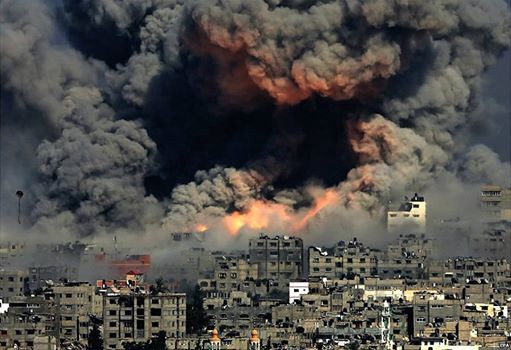 Bombing of Gaza City 2014