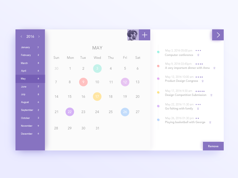 Calendar Booking Ui : Calendar design inspiration muzli