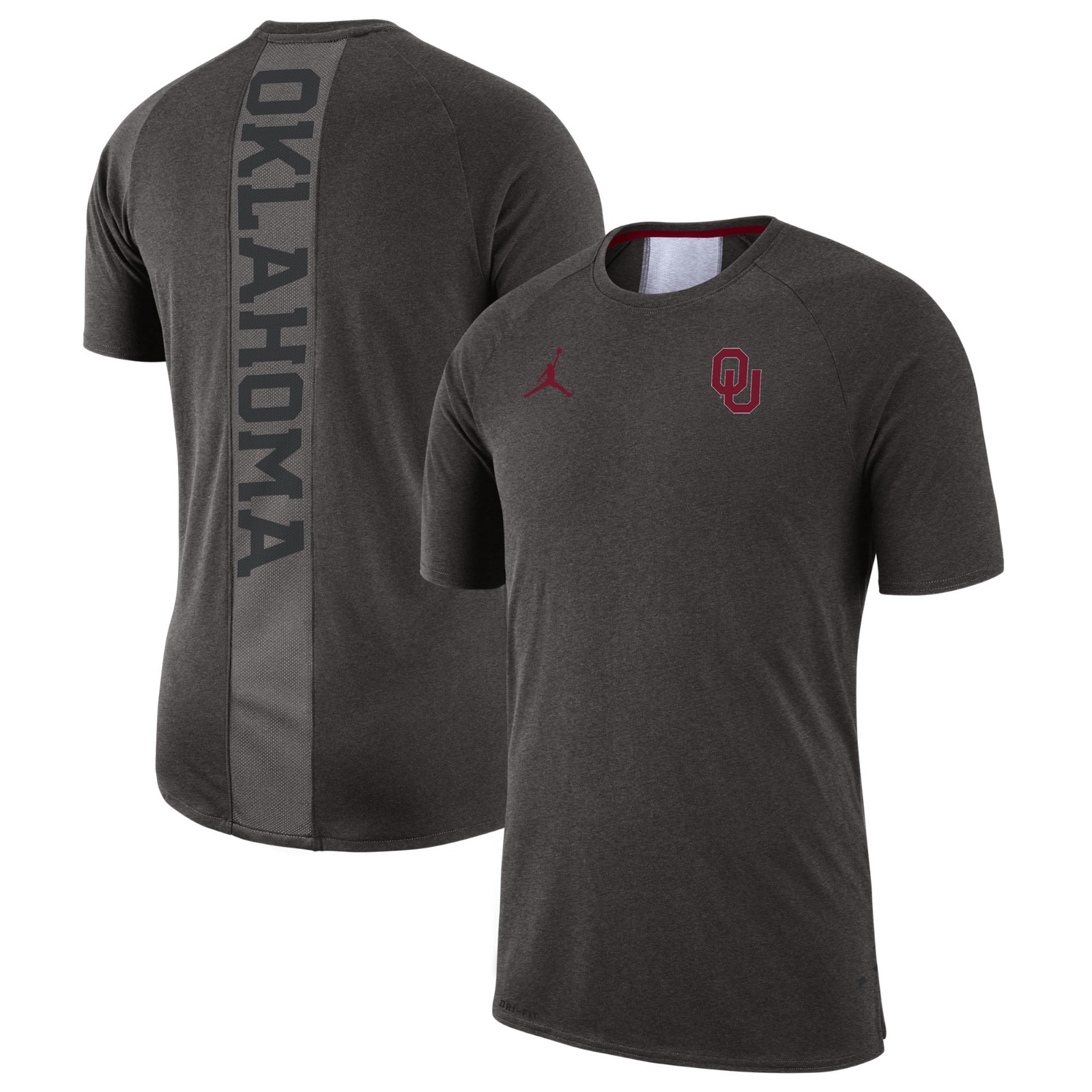 018665be3 Jordan Men s Oklahoma Sooners Alpha Cool Tri-Blend T-Shirt