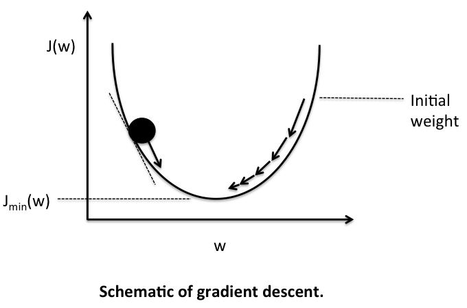 gradient descent in 2d sebastianraschka single layer neural networks and gradient descent