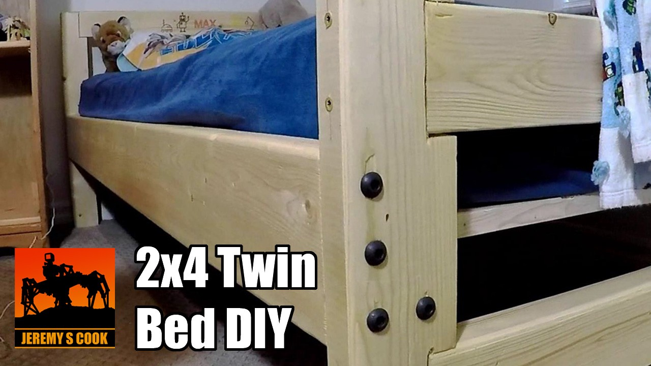2x4 Twin Bed With Simple Tools Jeremy S Cook Medium