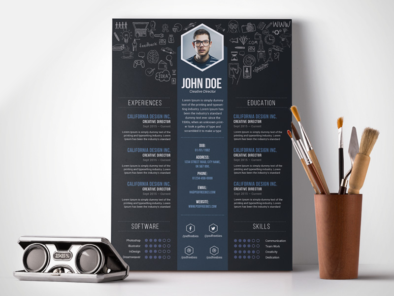 free creative designer resume template - Free Unique Resume Templates