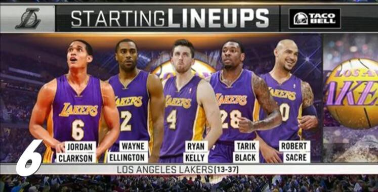 653e034c971 Your 2014–2015 Los Angeles Lakers. The entire frontcourt is no longer in  the NBA.