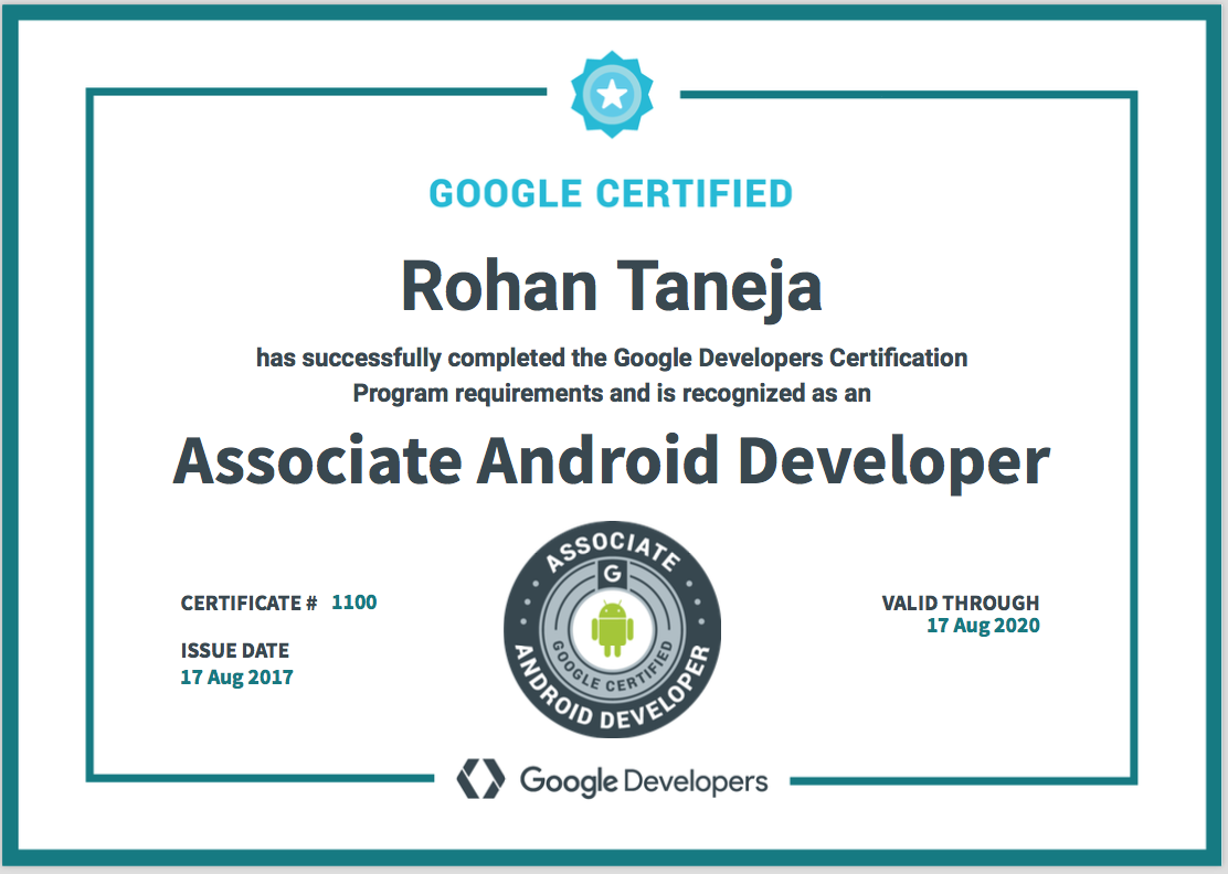 Google Certified Associate Android Developer Tips Faqs My Journey