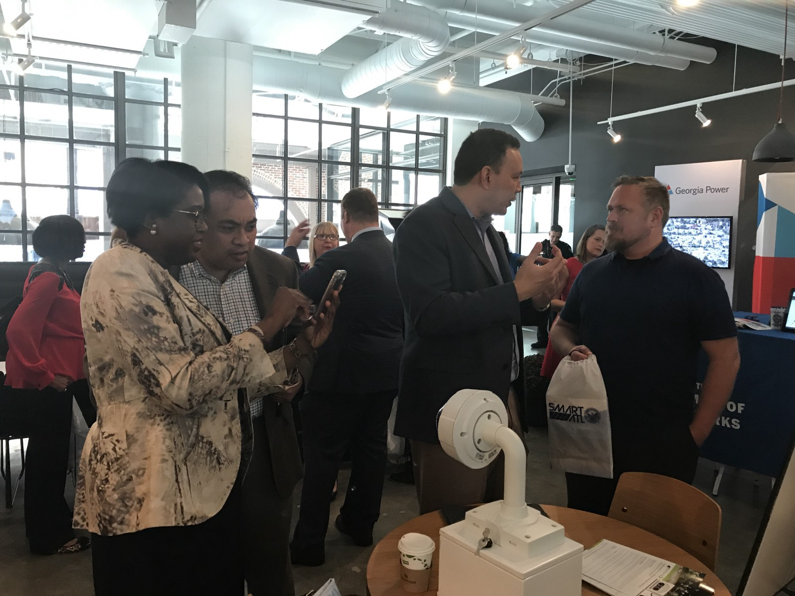Attendees interact with Atlanta smart cities projects
