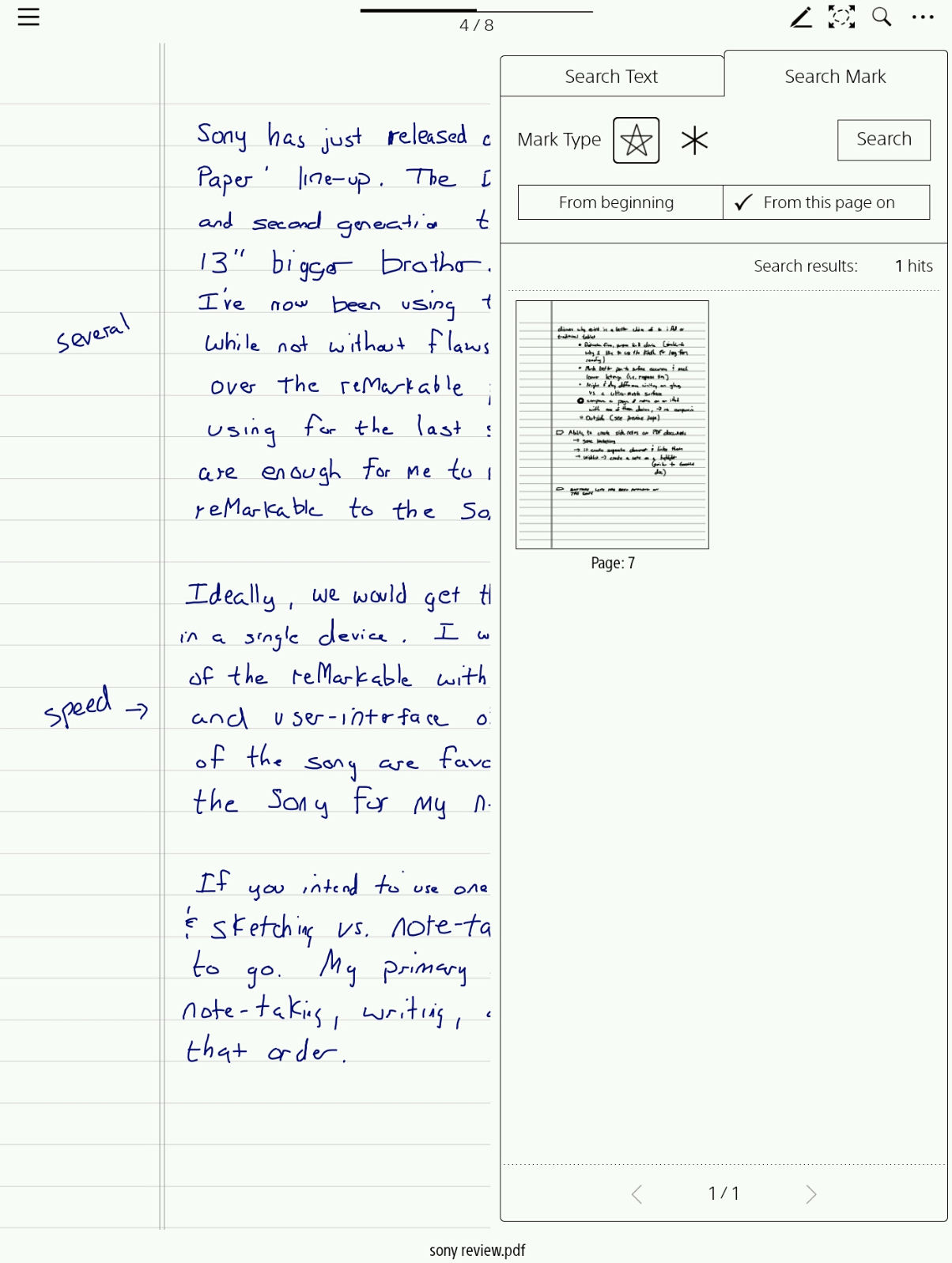 The Sony Dpt Cp1 Digital Paper Tablet Versus The Remarkable Paper Tablet