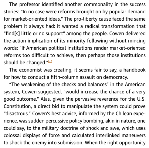 "nancy maclean owes tyler cowen an apology russ roberts medium  kindle edition of democracy in chains the ""success stories"" discussed in the opening sentence refer to countries that moved in a market direction"