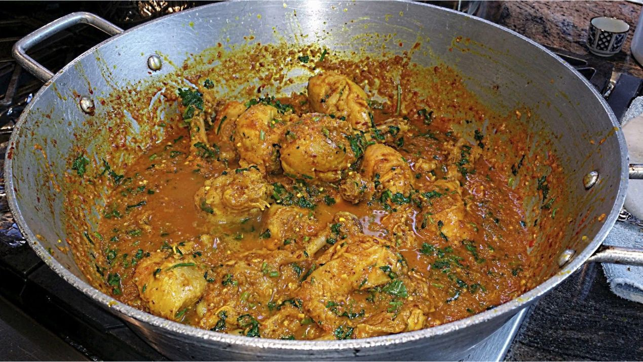 Palak chicken recipe hungry forever hungryforever medium chicken palak a classic indian dish for palak spinach chicken popeye would love this dish this is a nutrient rich low fat and low calorie meal that is forumfinder Image collections