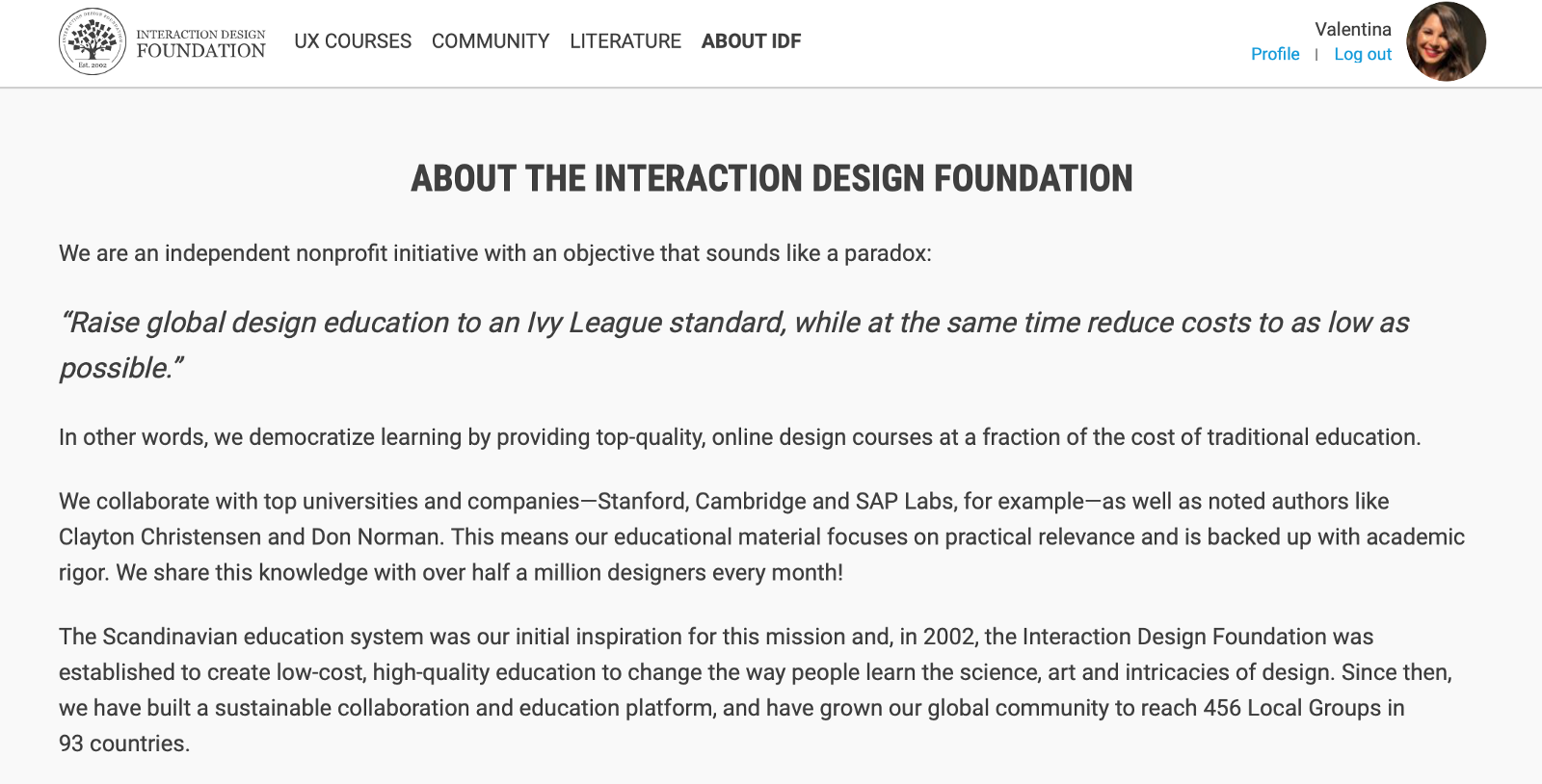 My experience with Interaction Design Foundation & 3 tips on how to