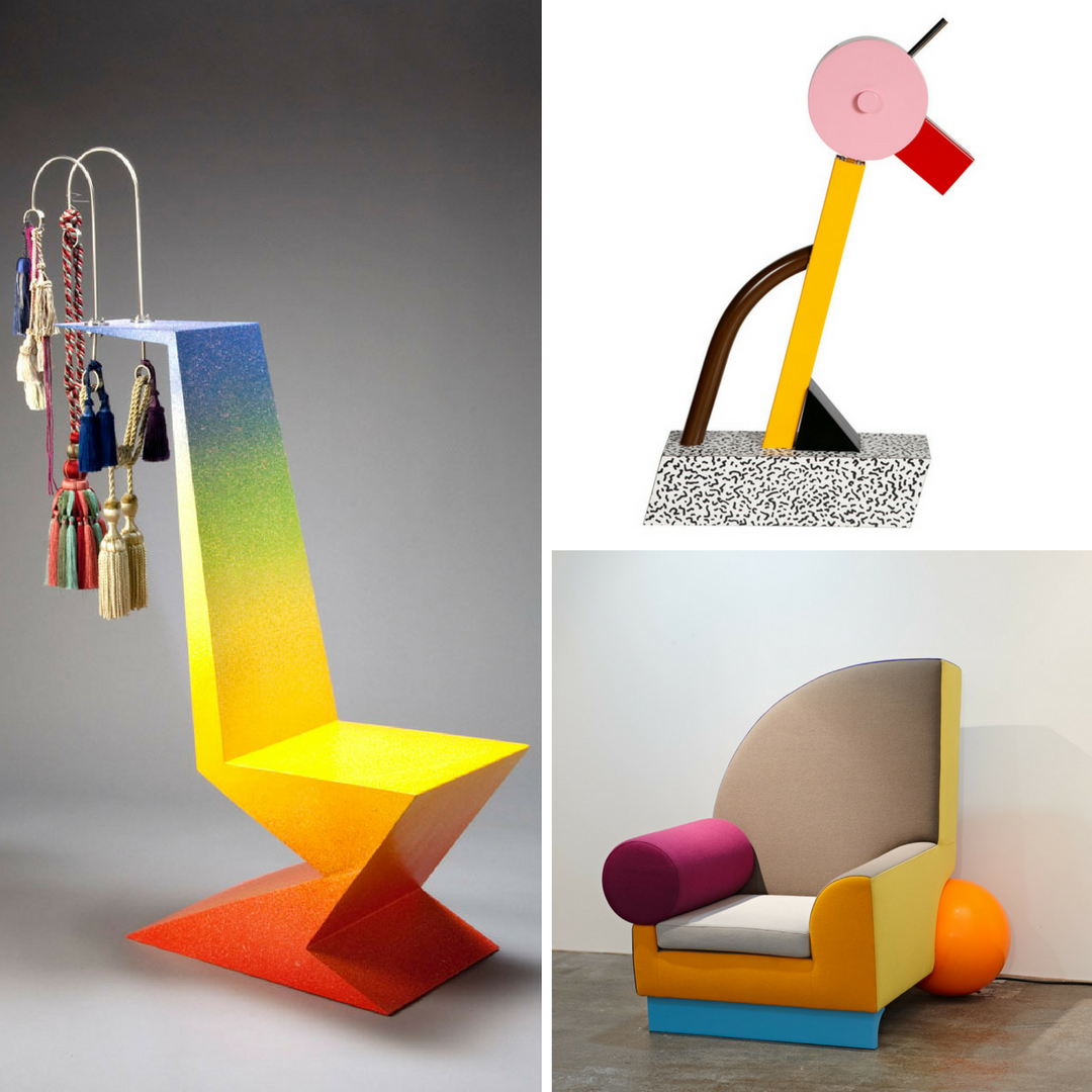 Chair By Peter Shire | A Tahiti Lamp (Ettore Sottsass For Memphis) | Bel  Air Chair (Peter Shire)