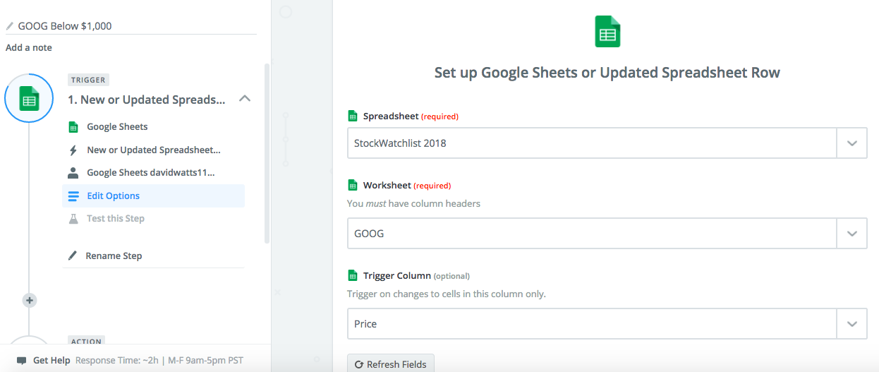How to create google sheets in gmail