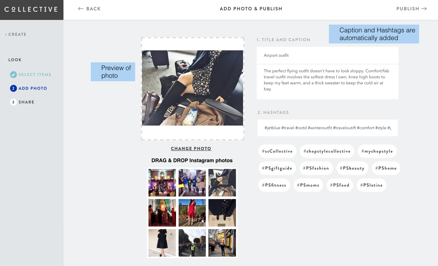 ed69ac33ec8 ShopStyle Collective — drag   drop Instagram photo and capture media  content to create a look