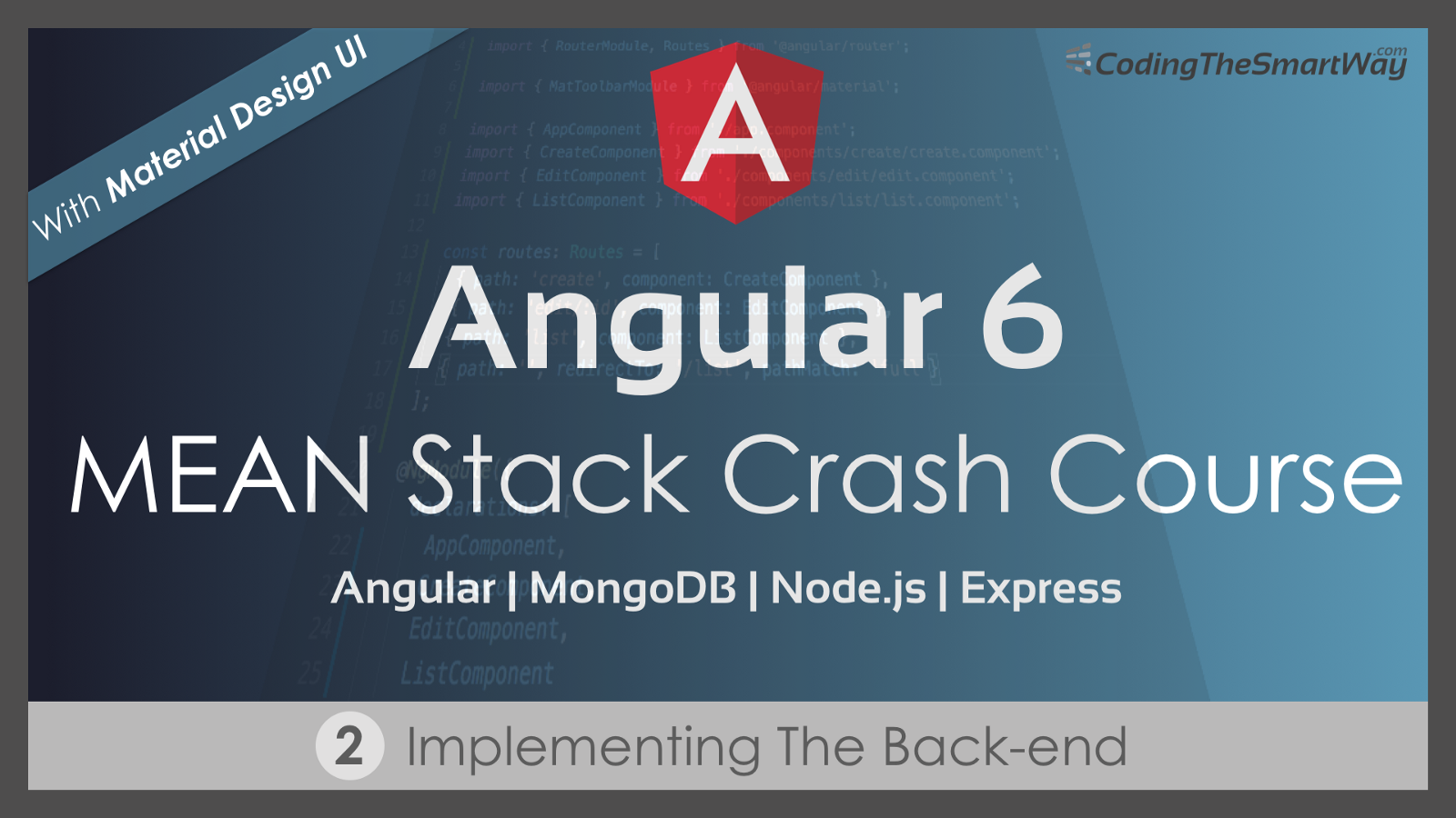Angular 6 Mean Stack Crash Course Part 2 Implementing The Back End