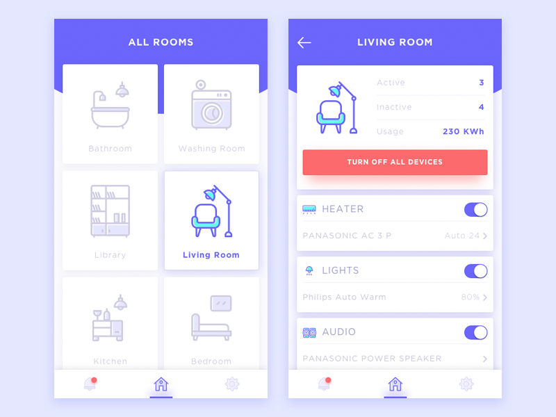 Home Layout App 30 inspiring examples of smart home app – muzli -design inspiration