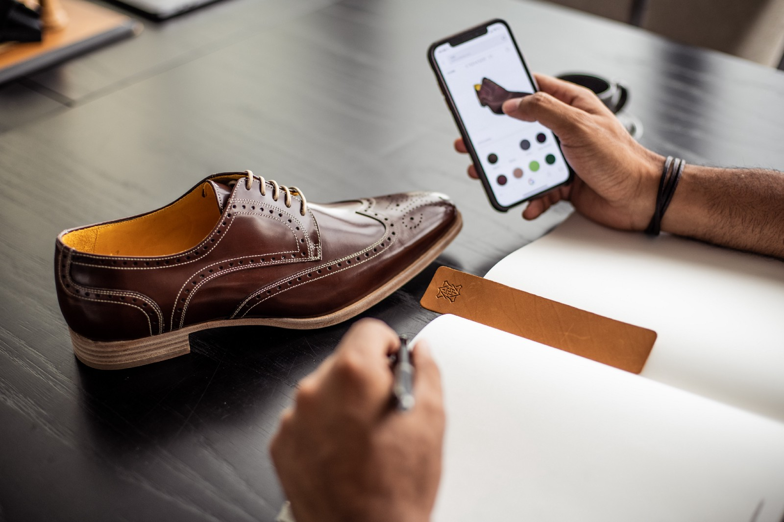 c6778932d8 The customers' bespoke shoe journey begins with three choices: shoes, boots  or sneakers.